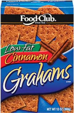 Food Club Graham Crackers Cinnamon Low Fat