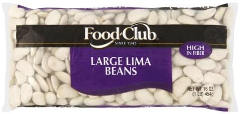 Food Club Large Lima Beans - 16 oz