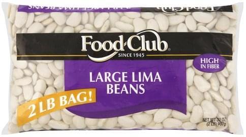 Food Club Large Lima Beans - 32 oz