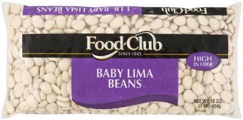 Food Club Baby Lima Beans - 16 oz