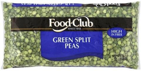 Food Club Green Split Peas - 16 oz