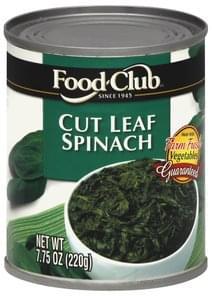 Food Club Spinach Cut Leaf