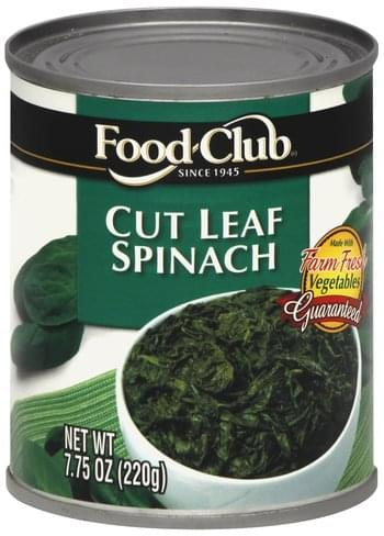 Food Club Cut Leaf Spinach - 7.75 oz