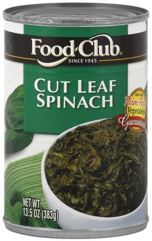 Food Club Cut Leaf Spinach - 13.5 oz