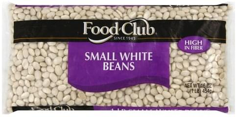 Food Club Small White Beans - 16 oz