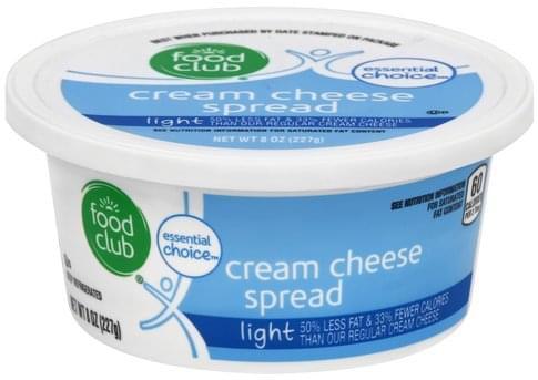 Food Club Light Cream Cheese Spread - 8 oz