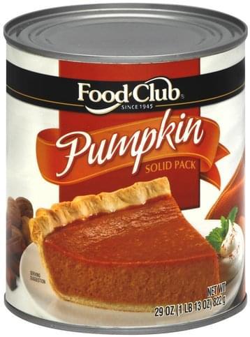 Food Club Solid Pack Pumpkin - 29 oz