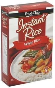 Food Club White Rice Instant, Enriched Long Grain