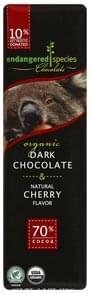 Endangered Species Dark Chocolate Organic, & Natural Cherry Flavor