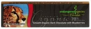 Endangered Species Dark Chocolate Smooth Organic, with Blueberries