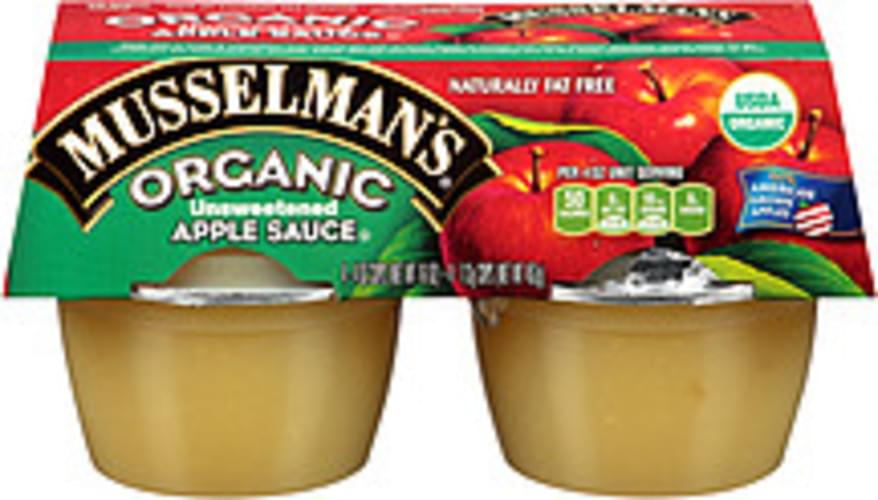Musselman's Organic Unsweetened Apple Sauce - 16 oz