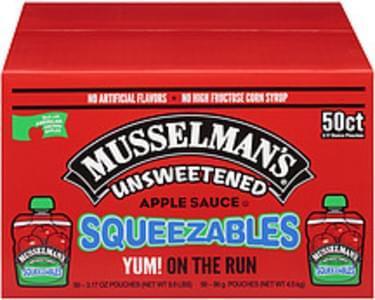 Musselman's Musselman's Squeezables Unsweetened Apple Sauce Squeezables Unsweetened
