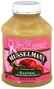 Musselmans Apple Sauce Unsweetened, Natural