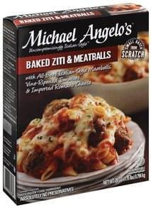 Michael Angelos Baked Ziti & Meatballs