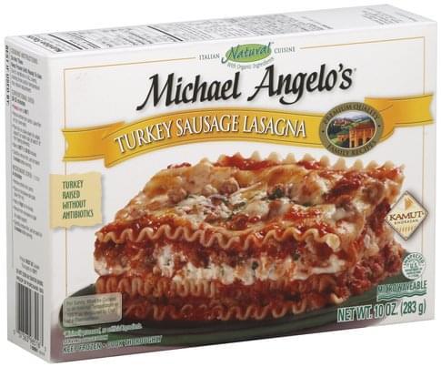 Michael Angelos Turkey Sausage Lasagna - 10 oz