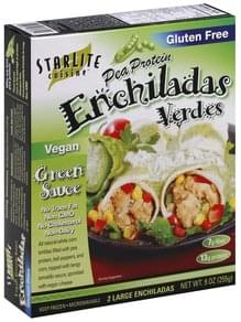 Starlite Cuisine Enchiladas Verdes Pea Protein, Large