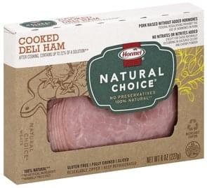Hormel Natural Choice Brown Sugar 100% Natural Deli Ham - 8