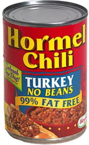 Hormel Chili Turkey No Beans 10 5 Oz Nutrition Information Innit