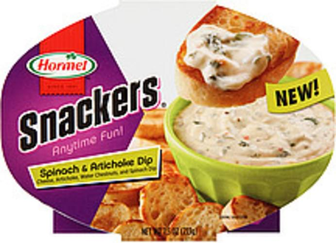Hormel Snackers Spinach Artichoke Dip 7 5 Oz Nutrition Information Innit