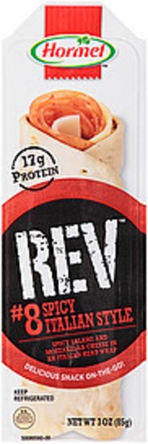 Hormel Rev #8 Spicy Italian Style Snack Wrap - 3 oz