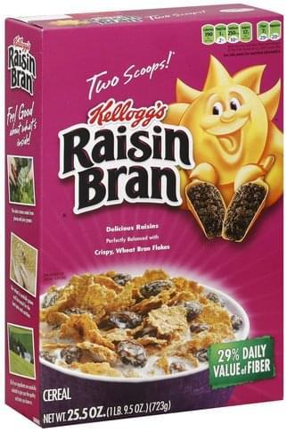 Raisin Bran Cereal - 25.5 oz, Nutrition