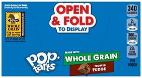 Pop Tarts Toaster Pastries Whole Grain, Frosted Fudge
