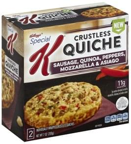 Special K Quiche Sausage, Quinoa, Peppers, Mozzarella & Asiago, Crustless