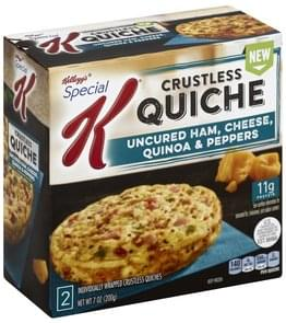 Special K Quiche Uncured Ham, Cheese, Quinoa & Peppers, Crustless