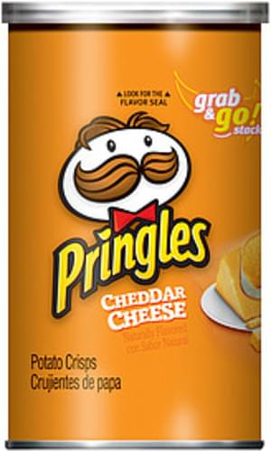 Pringles Cheddar Cheese Potato Crisps - 3 6 oz, Nutrition