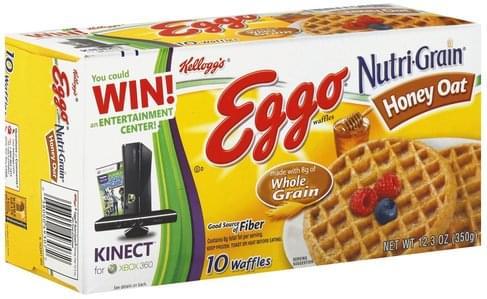 Eggo Nutri-Grain Honey Oat Waffles - 10