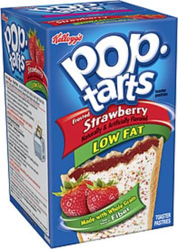 Kellogg's Pop-Tarts Frosted Strawberry Low Fat Toaster Pastries - 14.1 oz