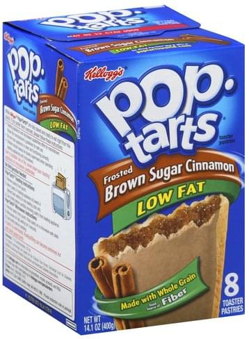 Pop Tarts Low Fat, Frosted Brown Sugar Cinnamon Toaster Pastries - 8 ea