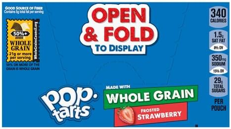 Pop Tarts Frosted Strawberry Toaster Pastries - 6 ea