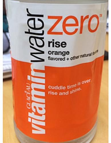 Glaceau Zero Rise Orange Vitamin Water - 0 g