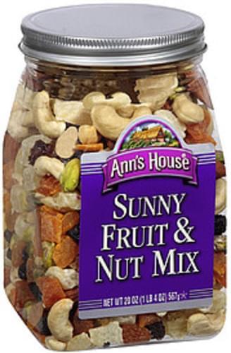 Ann's House Sunny Fruit & Nut Mix Snacks - 16 oz, Nutrition