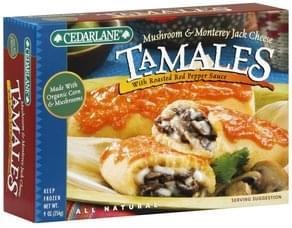 Cedarlane Tamales Mushroom & Monterey Jack Cheese