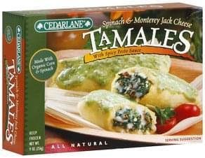 Cedarlane Tamales Spinach & Monterey Jack Cheese