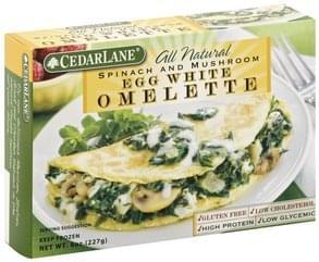 Cedarlane Omelette Egg White, Spinach and Mushroom