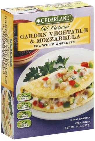 Cedarlane Egg White, Garden Vegetable & Mozzarella Omelette - 8 oz