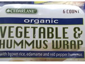 Cedarlane Organic Vegetable & Hummus Wrap