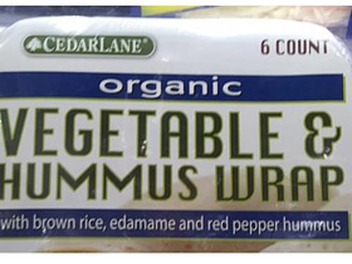 Cedarlane Organic Vegetable & Hummus Wrap - 0 g
