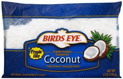 Birds Eye Fresh Frozen, Sweetened Coconut - 6 oz