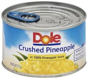 Dole Pineapple in 100% Pineapple Juice, Crushed