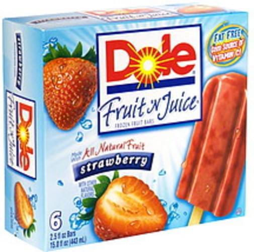Dole Strawberry Frozen Fruit Bars - 6 ea