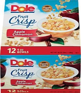 Dole Fruit Bowls Apple Cinnamon 4 Oz