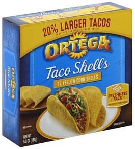 Ortega Taco Shells Yellow Corn