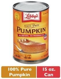 Libbys Pumpkin Pie 100% Pure
