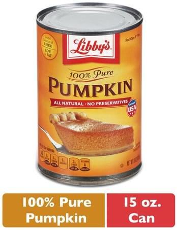 Libbys 100% Pure Pumpkin Pie - 15 oz