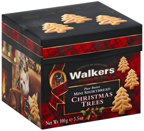 Walkers Pure Butter Christmas Trees Mini Shortbread 100 G
