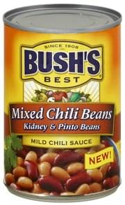 Bushs Best Chili Beans Mixed, Mild Chili Sauce
